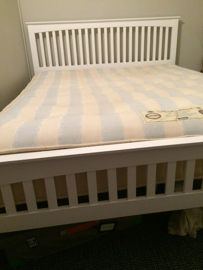 King Size White Wooden Bed Frame From Wayfair In Colinton Edinburgh Gumtree