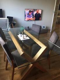 Cargo Glass Top table and 4x chairs - £400 (or nearest cash offer)