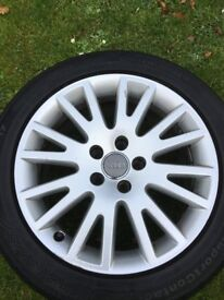 """Audi 17"""" Alloy Wheel and Continental Tyre 225/50 R17"""