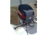 Evinrude 130 hp V4 outboard in exceptionally good condition, and in perfect working order