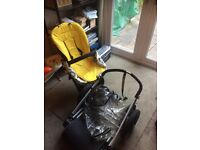 1st gen Bugaboo Cameleon pushchair, good condition, new chair cover and clear rain cover