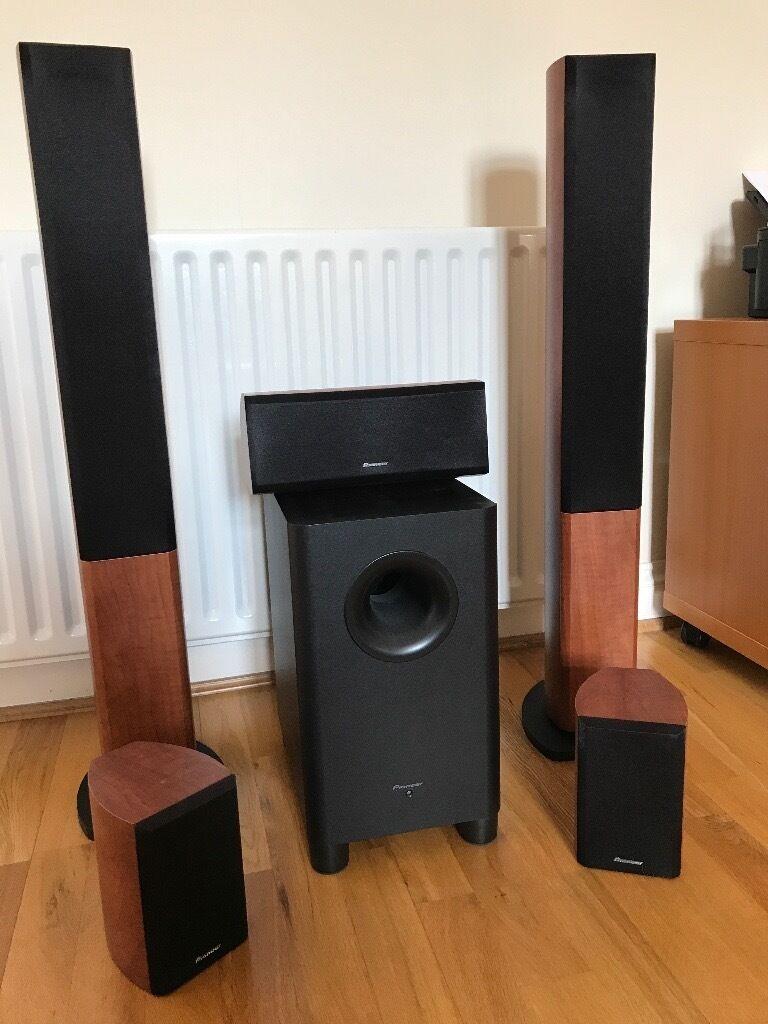 Pioneer S-LM2 5.1 Home Theater Speakers + Panasonic 3D Blu-Ray DMP-BDT100