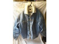 Mens Lee Large Borg Collor and Lined Denim Jacket
