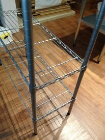 HOME Heavy Duty 4 Tier Metal Shelving Unit - Chrome Plated £20