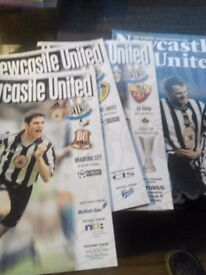 newcastle united football programmes from year 2000