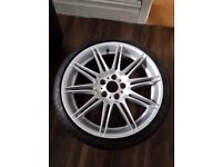 BMW MV4 REAR 19 INCH 9J GENUINE 255 30 19 ALLOY WHEEL NO CRACKS NO WELDS!!
