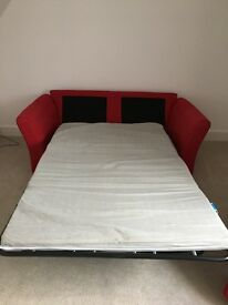 Red 2 Seater Double Size Sofa Bed