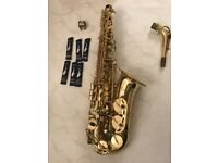 Excel Alto Saxophone. Bought new and in very good condition. Case and 6 reeds included.