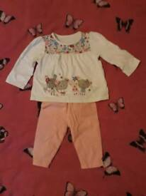 Baby Girl 0-3 Months Two Pieces Set Pants and Blouse