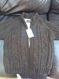 Boys brand new Next thick lined cardigan size 3/4. Boys.