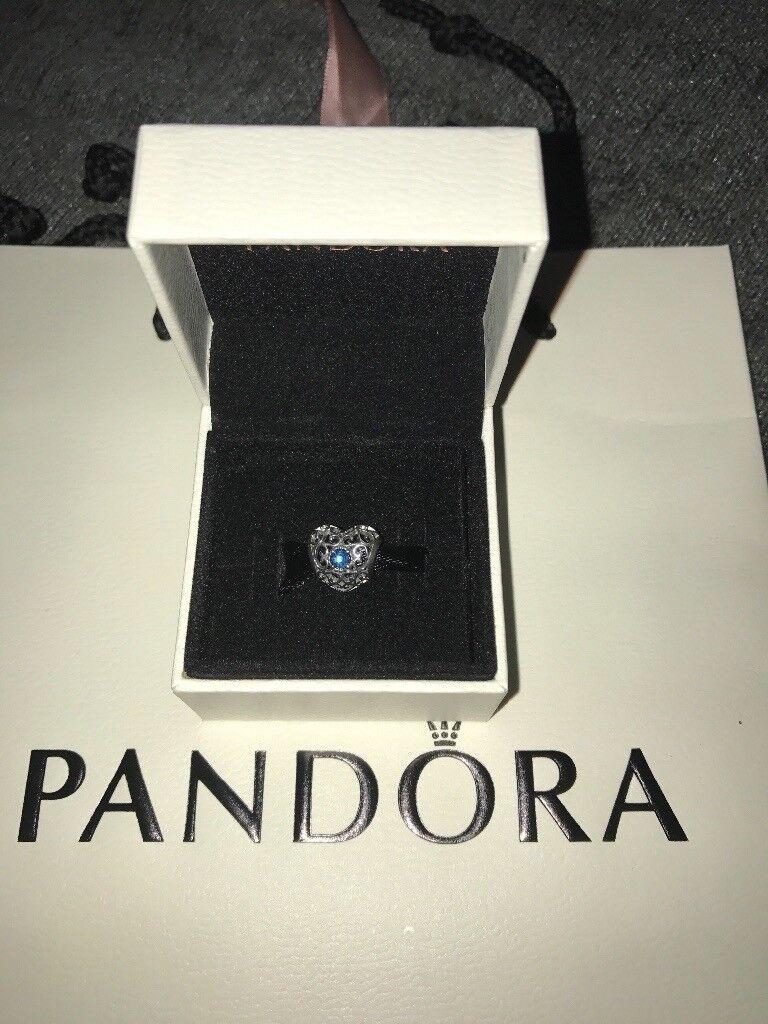 Brand new Pandora December birthstone heart charm