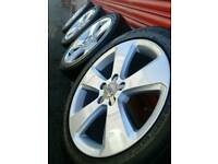 "Audi A3 2014 Genuine 17"" Alloy Wheels - Newly Refurbished - 5x112 fit A3 A4 A5, T4, Seat"