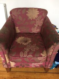 M&S chair , ideal for recovering , seat damaged otherwise good condition