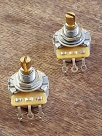 CTS 500K Potentiometers with Split Brass shafts, x 2