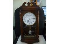 beautiful rhythm wooden pendulum wall clock,westminister chime lovely wall clock,excellent condition