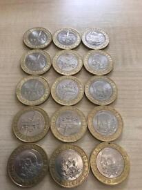 Joblot!!! Rare Shakespeare £2 Coins