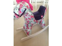Mamas and papas rocking horse, blossom