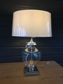 OAK FURNITURE LAND LARGE 'LILLE' TABLE LAMP **BRAND NEW**
