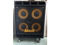 Markbass STD 104HF on lockable casters/wheels (8ohm 800w bass cab)