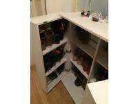 Sleek shoe cupboard