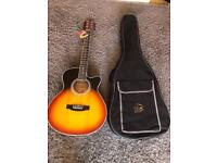 Brand new Electro Acoustic Guitar solid top with carry bag RRP £299