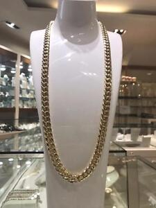 10k Yellow Gold Cuban Link Chain 30 inches 11.5 mm 81.1 gr