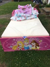 Disney Princess toddler bed.