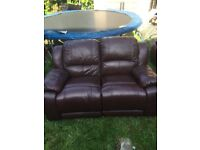 Harveys 2 seater & 3 seater Whitby leather recliner sofa
