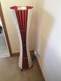 Floor lamp red/cream
