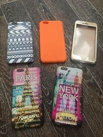 5 IPhone 6s Phone Cases Excellent condition never used