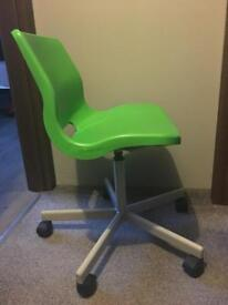 Ikea green plastic chair