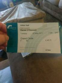 Daniel O'Donnell ticket Edinburgh 2/5/17