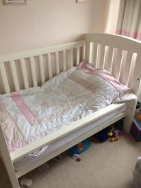 Beautiful white cot bed