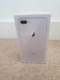 Iphone 8 Plus - 64GB - Silver - Unlocked - 1 year warranty
