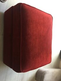 Red foot stool with storage. Excellent Condition