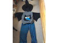 3- 4 years old bat costume with witch hat. £5