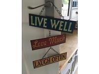 Vintage style Hanging metal sign