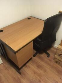 Office type desk and chair