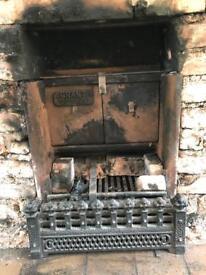 Grant cast iron fire