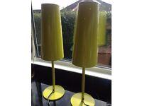 PAIR OF IKEA TALLVIK LIME GREEN TABLELAMPS £20FOR BOTH BARGAIN!!!!