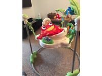 Jumperoo rainforest, baby bath with stand