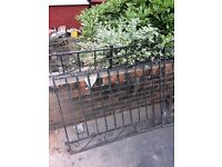 Cast iron garden gates 2.4 metres wide with posts
