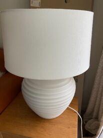 Large white lamp