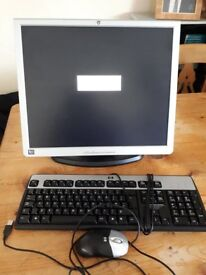 HP MONITOR 19 INCHES, KEYBOARD AND MOUSE