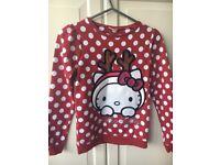 Hello Kitty Christmas Jumper Age 11
