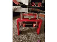 Beutiful glass red and black coffee table