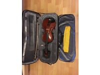 15 inch Viola with bow, kun shoulder rest, case, metronome, rosin and four music books