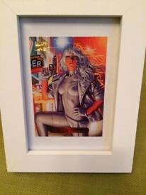 Marvel SILVER SABLE Trading Card Framed