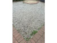 Free drive stone chippings