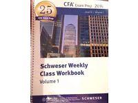 2016 Kaplan Schweser CFA Exam Prep Workbook Level 3 Volume 1 & 2